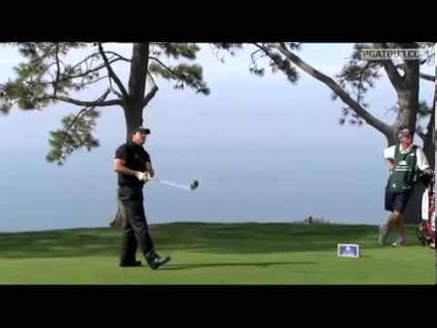 Phil Mickelson drives green 2010 Farmers Insurance Open