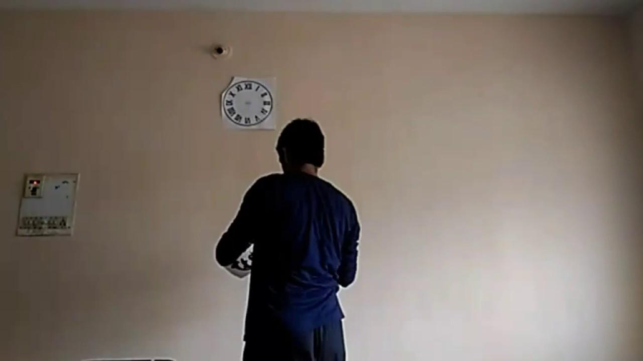 DIY wall sticker clock from Amazonin YouTube