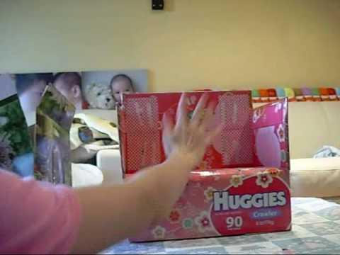 Huggies nappy box chair