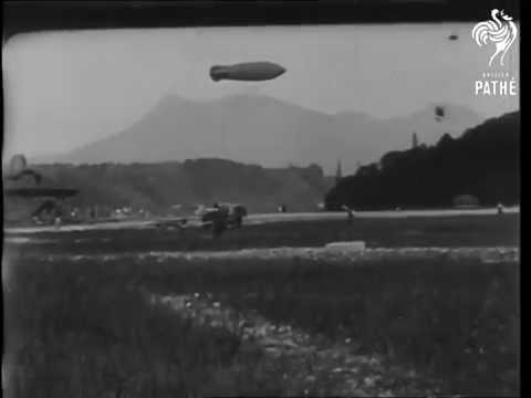 Trips Over Alps By Airship 1910 from Lucerne