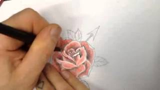 Rohans stop animation rose drawing
