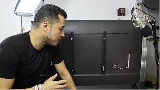 كيفية تثبيت الشاشة علي الحائط وعمل اضاءة في الخلفية | تليفزيون ال جي 49 سمارت