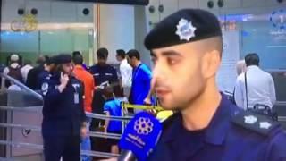 بالفيديو: ضابط كويتي يتعرض لحالة إغماء على الهواء مباشرة