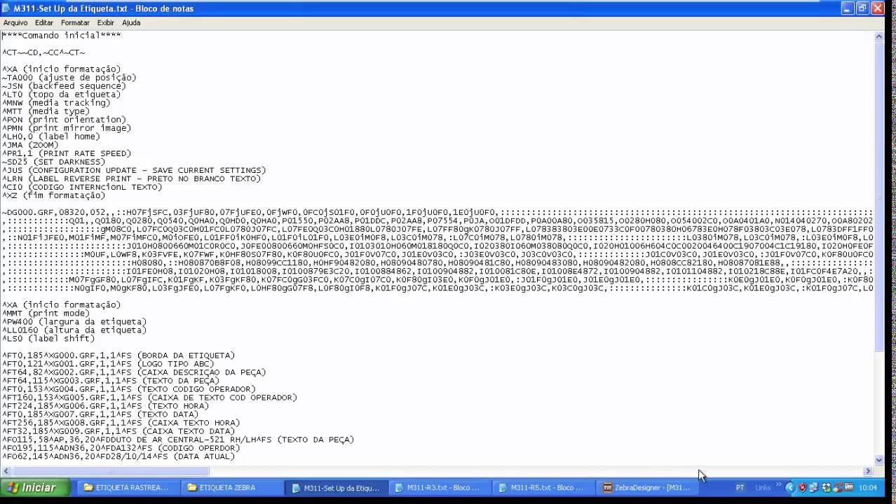 Como gerar arquivo ASCII txt no software ZebraDesigner etiqueta pelo PLC  porta Serial