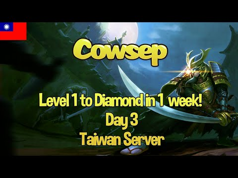 Taiwan Server: Level 1 to Diamond in 1 week (again!) - Day 3