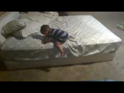 Smart kid. Smarter way of getting down from bed