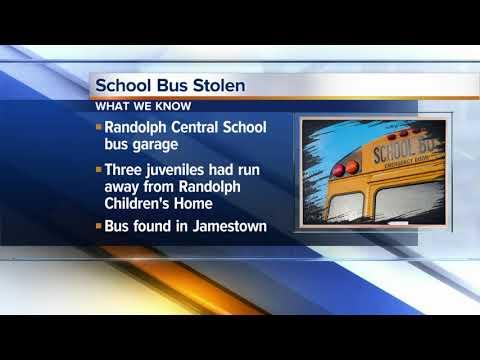 Teens accused of stealing school bus in Cattaraugus County