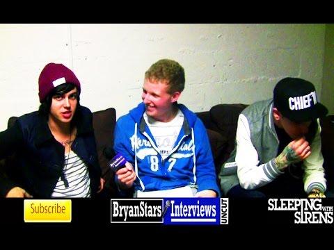 Sleeping With Sirens Interview #3 Featuring Pierce The Veil & DeeFizzy UNCUT 2015