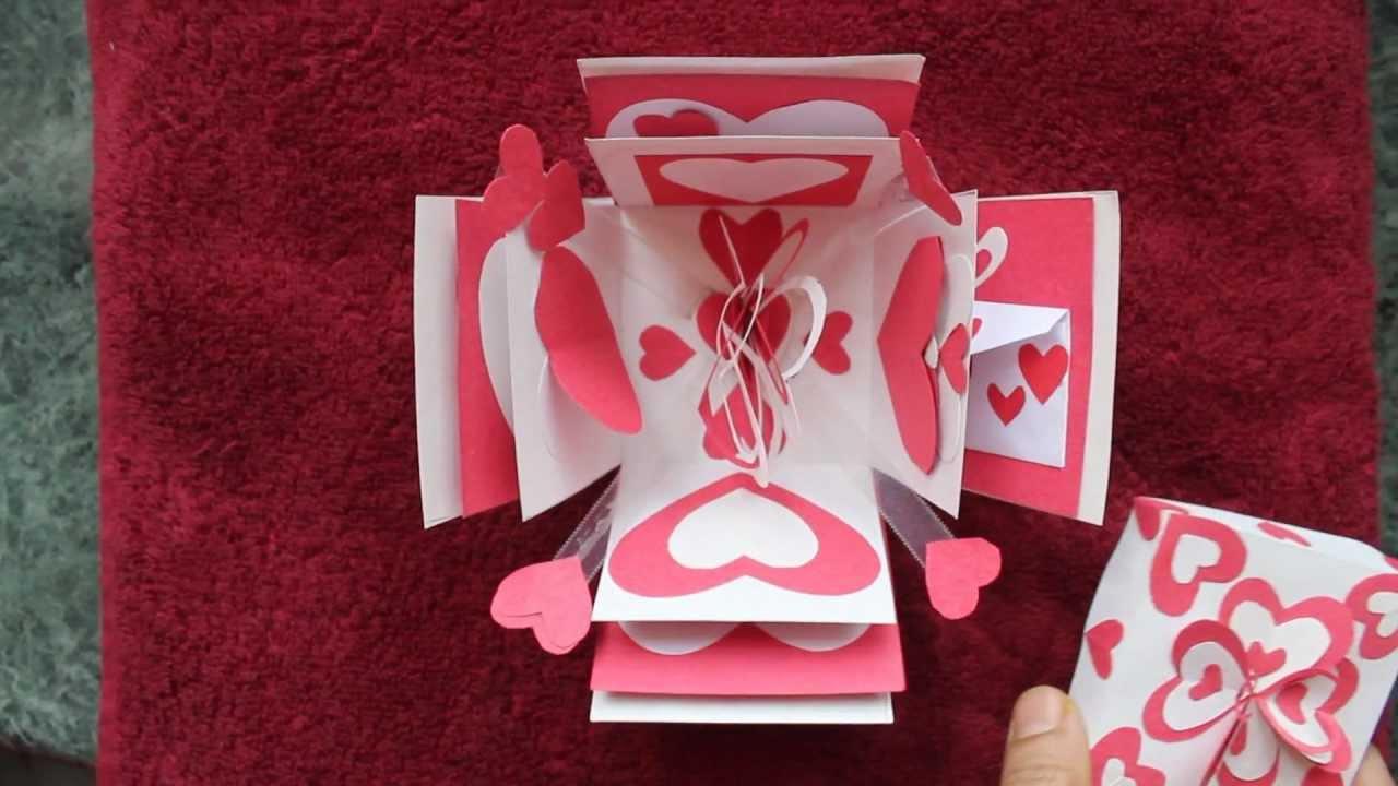 valentine hearts explosion box