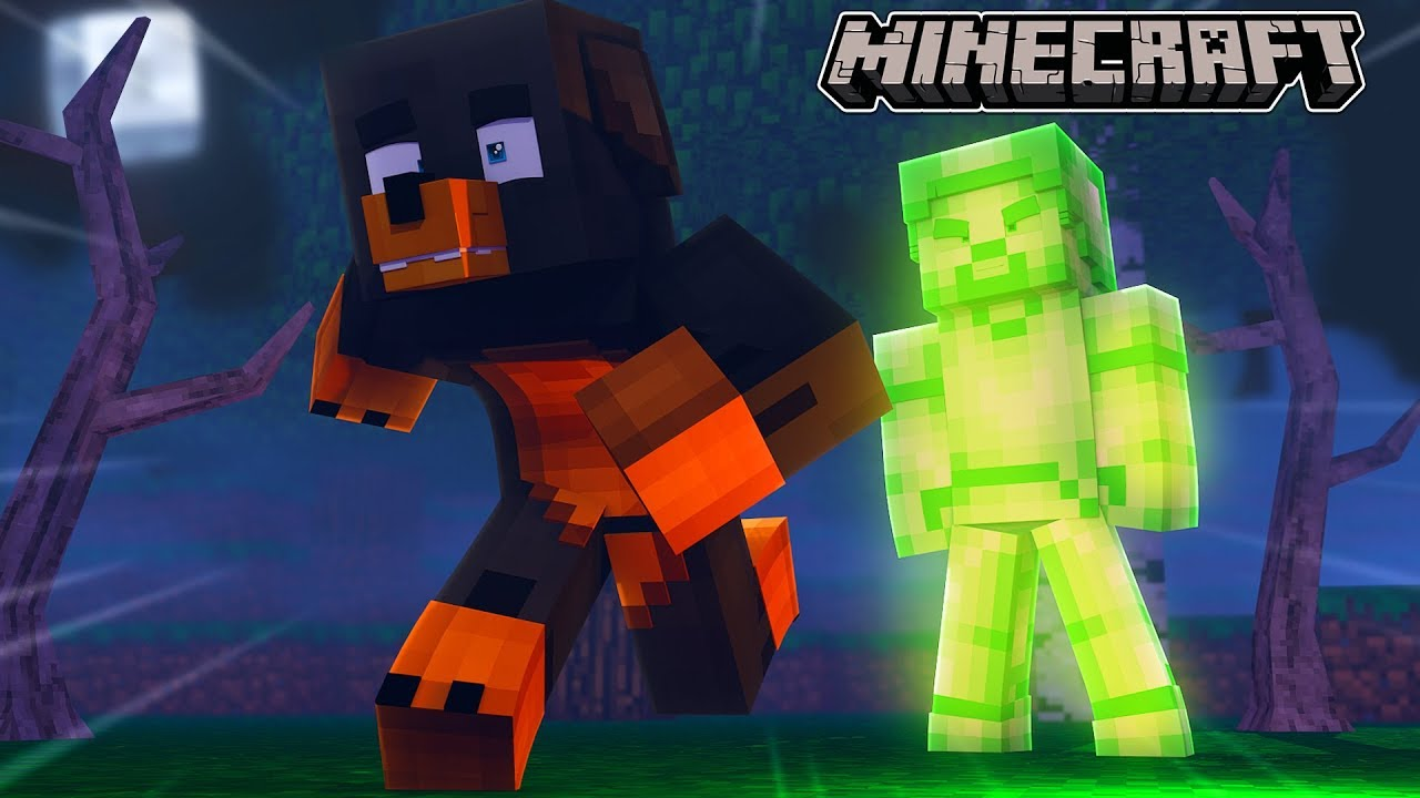 Minecraft FINDING GREEN STEVE IN THE FOREST REAL