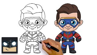 How To Draw Captain Man | Henry Danger