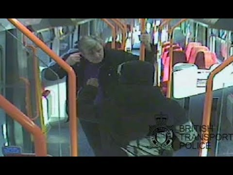 Jury shown video of dad Lee Pomeroy stabbed 18 times in 25 seconds on train