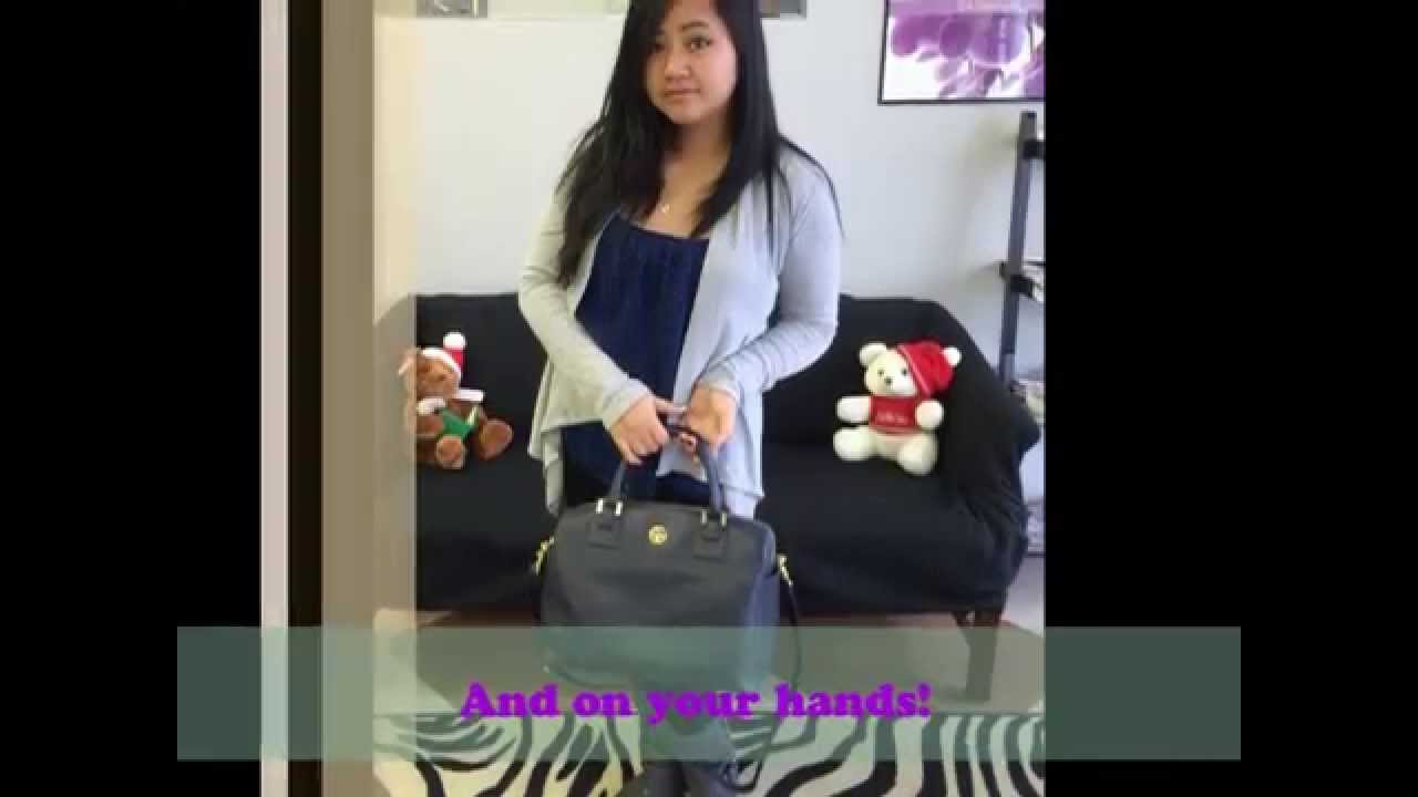 What S In My Bag Tory Burch Robinson Satchel Review You