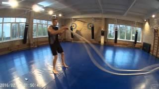 Тренировка с функциональным канатом / Battle rope workout
