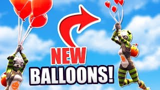 NEW FORTNITE BALLOONS GAMEPLAY + SPOOKY TEAM LEADER SKIN! (Fortnite: Battle Royale Balloon Update)