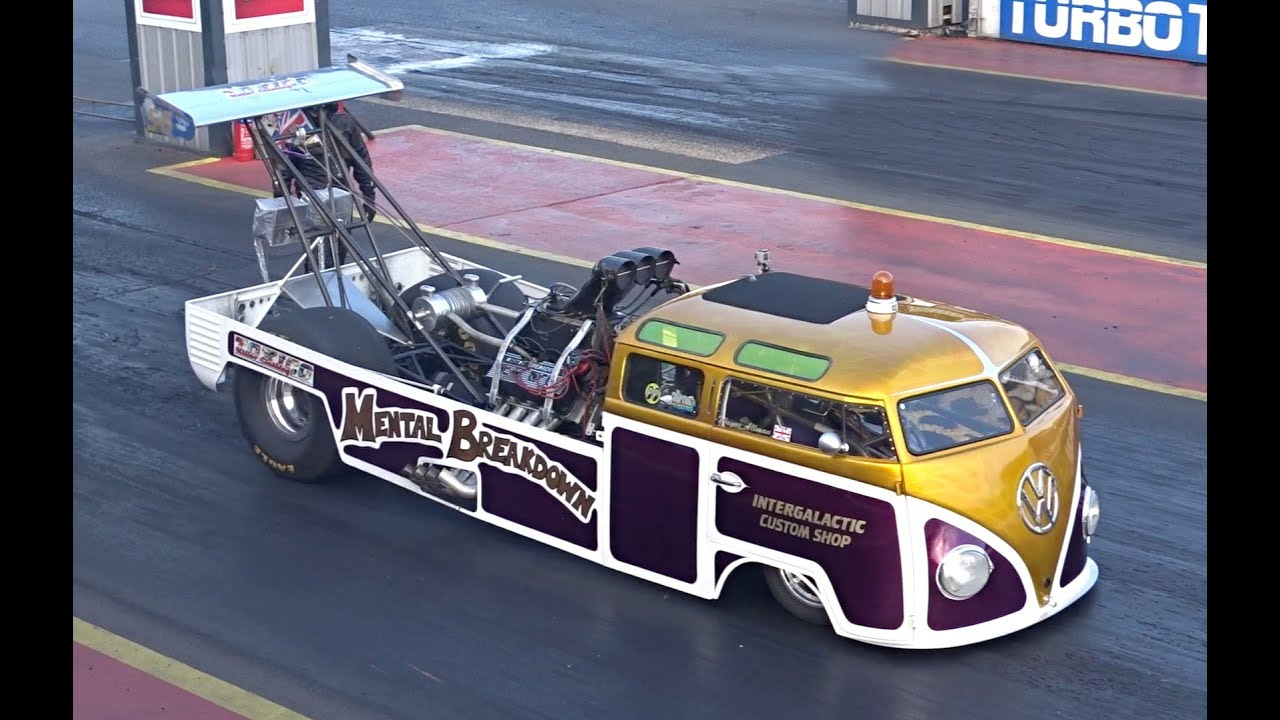 Vw Bus 2015 >> Mental Breakdown - 1700bhp VW Bus Dragster - 7.6 @ 182mph - YouTube