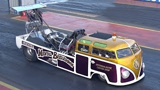 Mental Breakdown - 1700bhp VW Bus Dragster - 7.6 @ 182mph