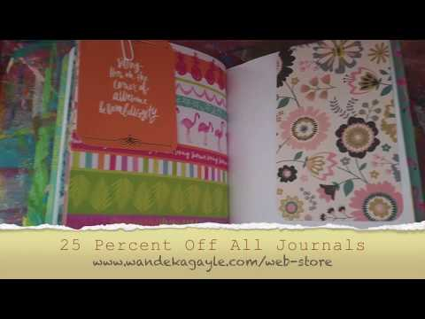JOURNAL FLIP || Tropical Themed Handmade Journal