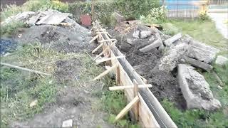 видео Устройство фундамента под забор
