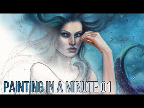 PAINTING IN A MINUTE 01 - Cleaning Paint Brushes - Time Lapse