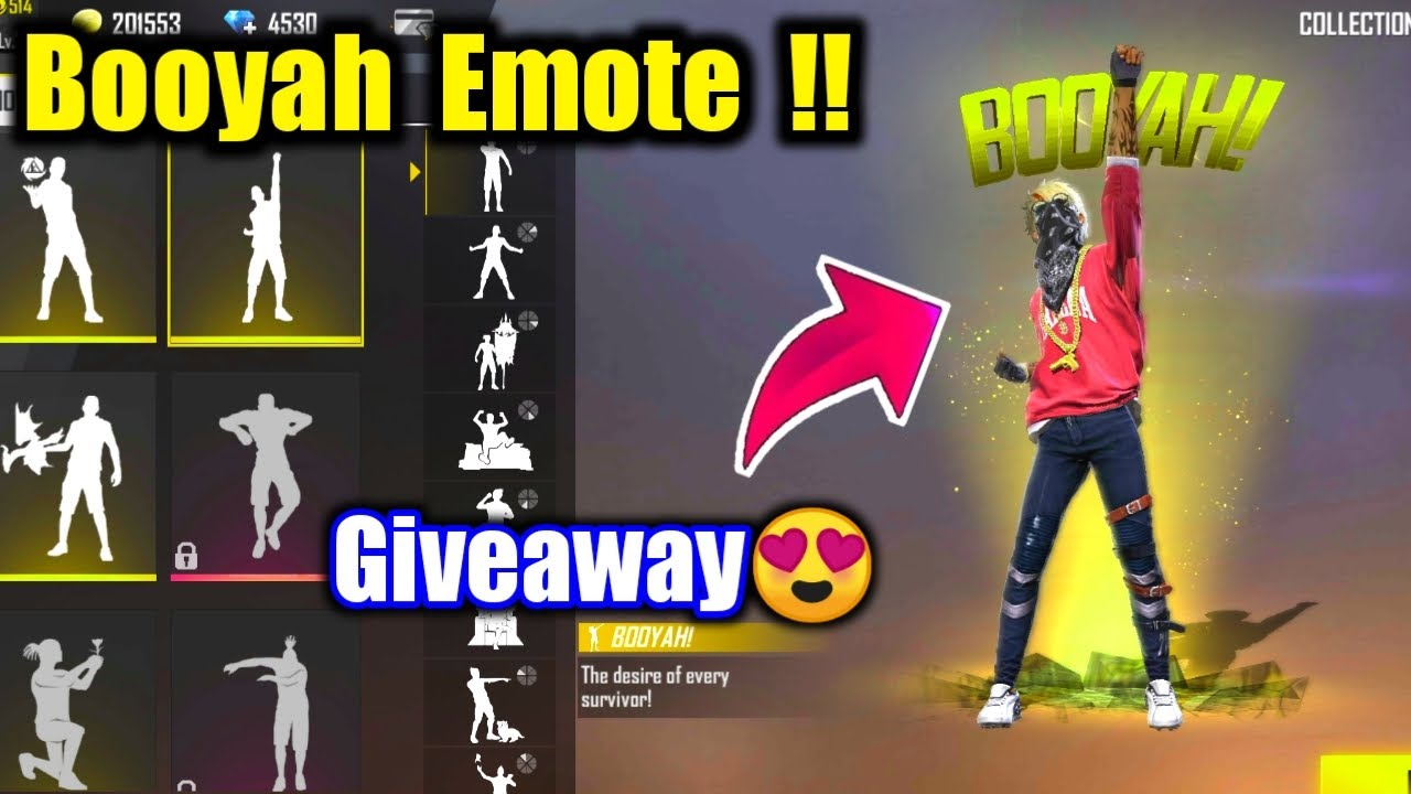 New Booyah Emote Giveaway 😍🔥Join Fast !!