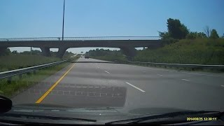 Driving on Autoroute 30 in Montreal, Quebec, Canada