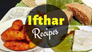 Iftar Recipes / Ramadan Recipes / Unnakkai, Chemeen Pathiri, Gothumbu Ela Ada