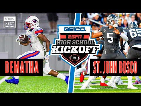 DeMatha (MD) Vs. St. John Bosco (CA) Football - ESPN Broadcast Highlights
