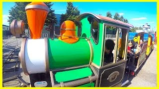 AT THE FAIR Outdoor Amusement Park for Kids and Family Train Ride, Dragon Ride and more