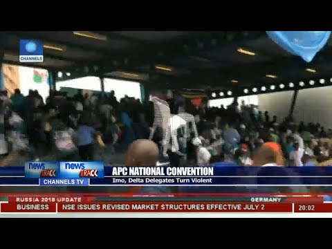 Delegates Fight During Buhari's Speech At APC Convention!!! (Watch Video)