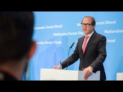 PK Nationales Forum Diesel mit BM Dobrindt