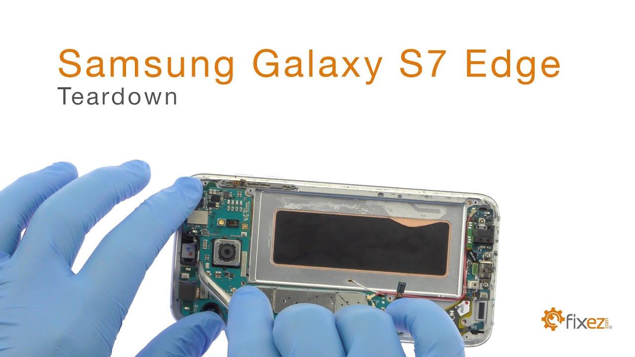 samsung galaxy s7 edge screen repair teardown and