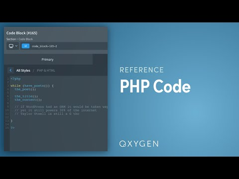 PHP & HTML - Oxygen