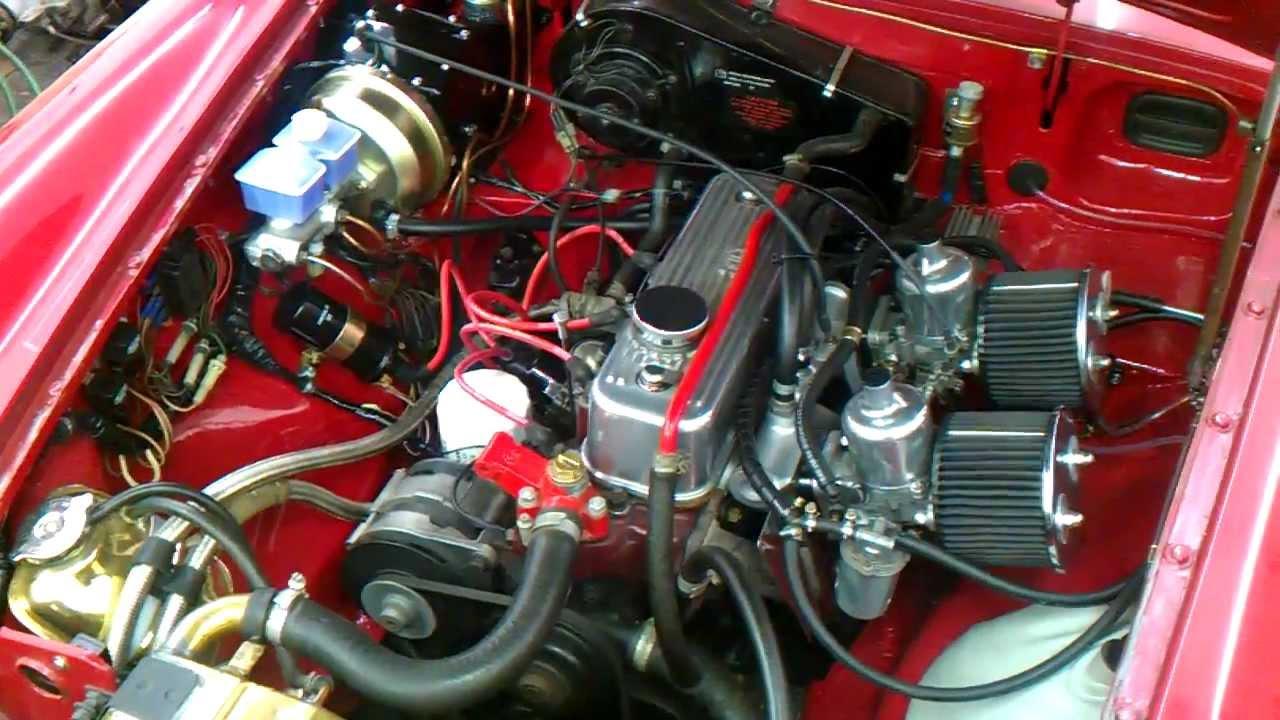 mgb engine bay refurb progress more to do youtube rh youtube com 1977 mgb engine diagram mgb engine parts diagram