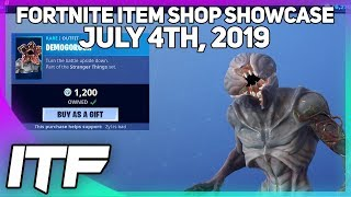 Fortnite Item Shop *NEW* STRANGER THINGS SKINS! [July 4th, 2019] (Fortnite Battle Royale)