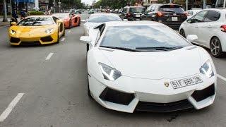 Lamborghini Parade in Saigon: Lamborghini Aventador, Lamborghini Huracan | XSX
