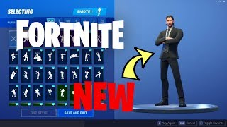 NEW FORTNITE JOHN WICK SKIN ACTUAL GAMEPLAY NEW JOHN WICK KIN LEAKED WITH NEW BACK BLING NEW UPDATE!