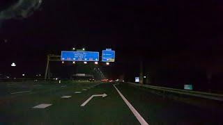 Dashcam Beelden Utrecht: A12 Knooppunt Oudenrijn ----》Afrit De Meern (Plaatsing Led Lantarenpalen ).