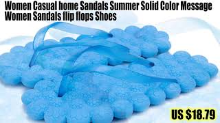 32845980340 Women Casual home Sandals Summer Solid Color Message Women Sandals flip flops Shoes.mp4
