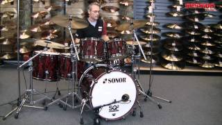 Sonor SQ2 Shellset Red Tribal