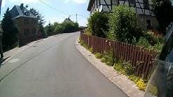 Von Hohenstein-Ernstthal nach Glauchau über Zwickau bei bestem Wetter (1080p)