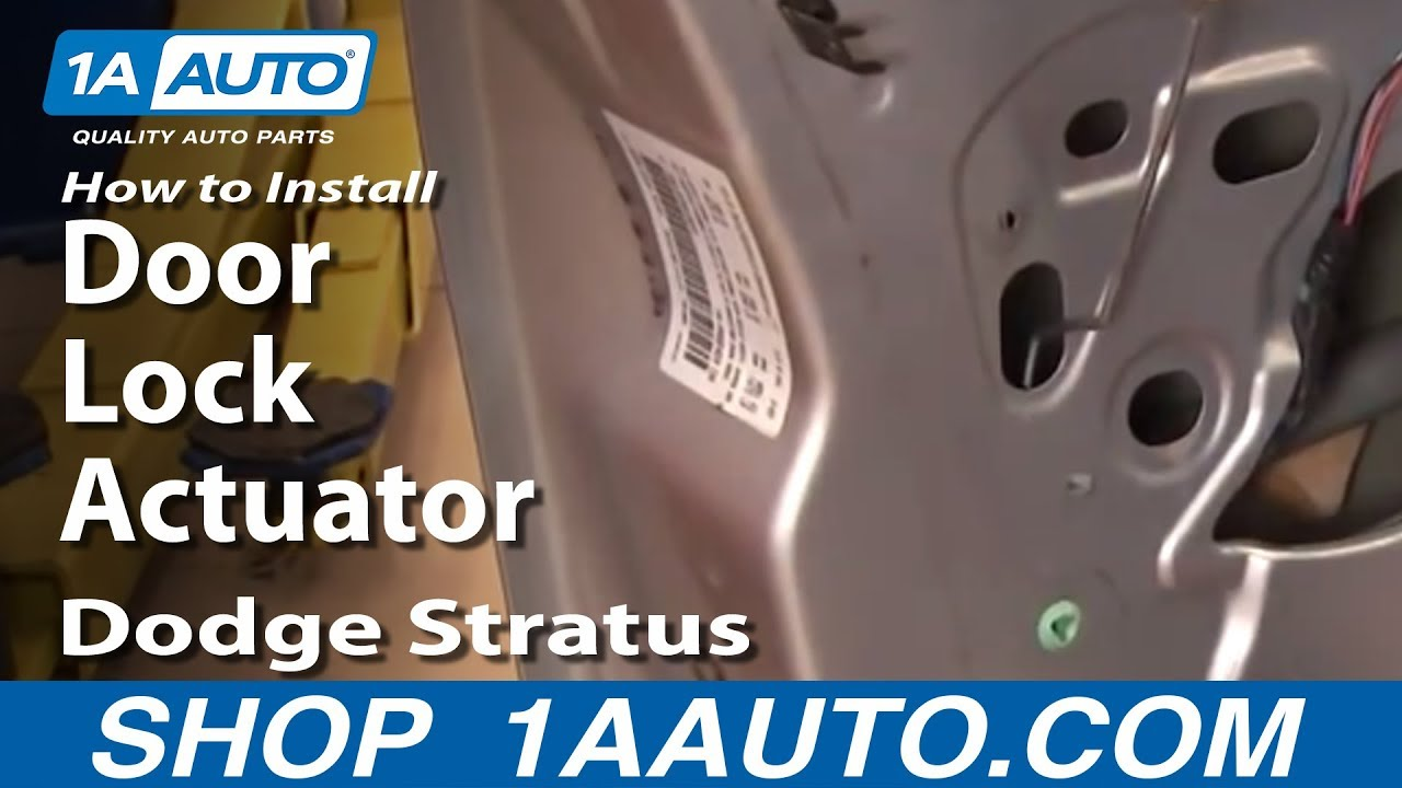 how to install replace door lock actuator dodge stratus 01 06 youtube. Black Bedroom Furniture Sets. Home Design Ideas