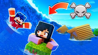 Minecraft TSUNAMI Floods Our Server!