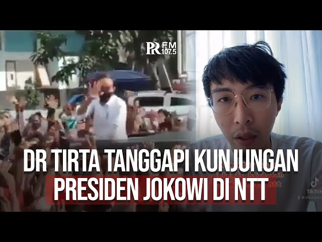 Begini Komentar dr Tirta Soal Kunjungan Kerja Presiden Jokowi di NTT yang Menimbulkan Kerumunan