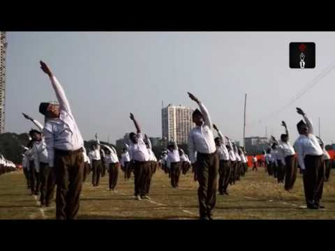 RSS Workers Perform Exercises At The Organisation's Kolkata Rally