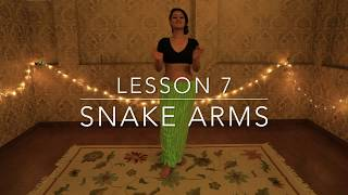 Lesson 7 | How to do Snake Arms | Beginner Belly Dance Tutorial with Meher Malik