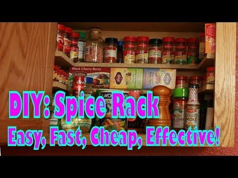 DIY Cupboard Spice Rack Organizer. Cheap Kitchen Hack DIY