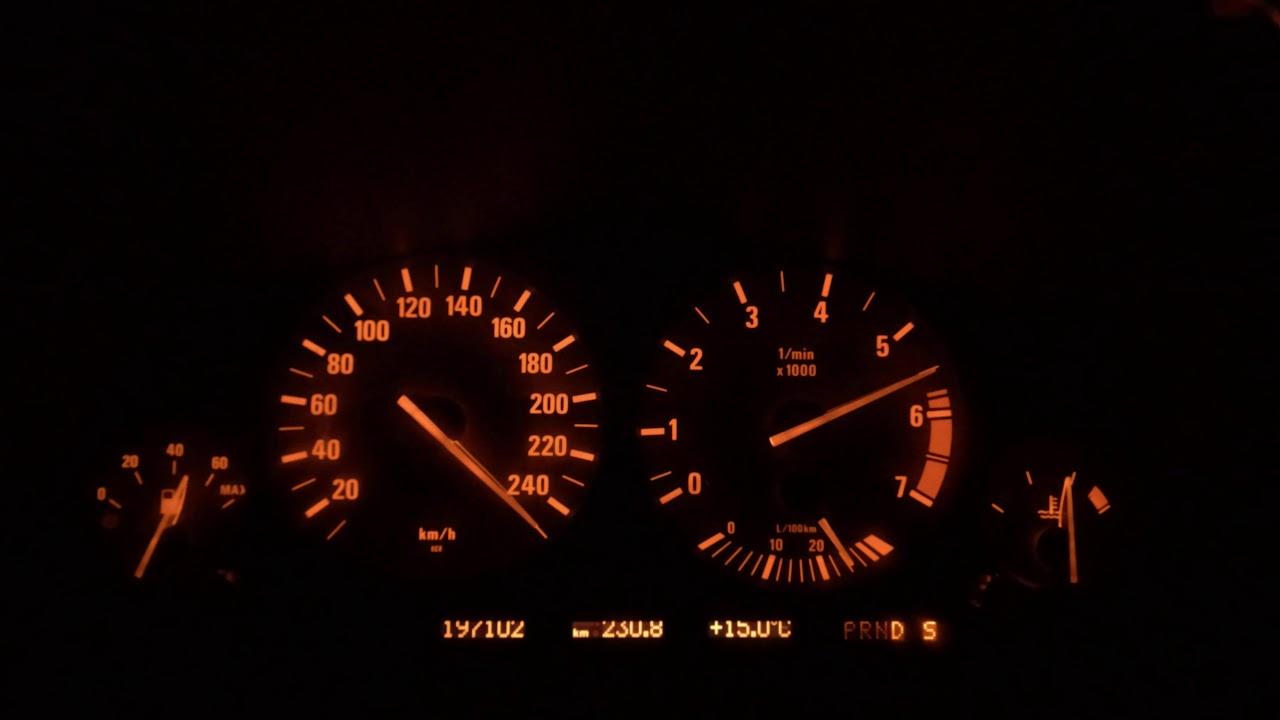 BMW E38 7 Series V8 Top Speed on German Autobahn