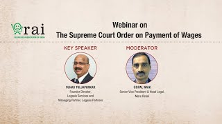 Supreme Court Order on Payment of Wages | Coping with COVID-19 | Legal Webinar (2020)