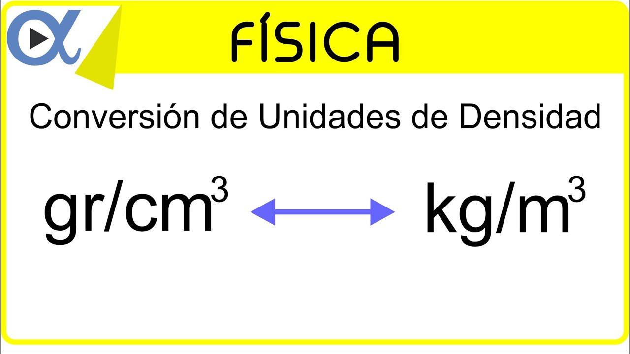 Conversi n de unidades de densidad gr cm a kg m for Cuantas tilapias por metro cubico